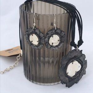 NWT ANJU Handcrafted flower jewelry set